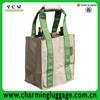 bulk reusable wine tote bag/bag in box wine cooler for 6 bottle