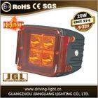 20W LED WORK LIGHT LAMP 12V24V BOAT JEEP Truck SUV 4WD ATV UTV,4X4W IP67 High Intensity CREE LEDS Fog Lamp Kit 10-30VDC