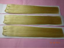 Factory price hair weaving virgin russian human hair blonde hair extensions