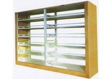 acrylic book shelves 6 tier/book display shelves/double strut bookshelf