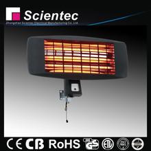 Scientec Quiet Electric Wall Quartz Heater With 3 Power Settings