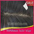 Top qualidade super natural Top de seda curto homens peruca 100% brasileiro do cabelo humano perucas masculinas