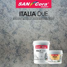 TEXTURED PAINT- SANCORA ITALIA DUE (Duotone Metallic-Textured Wall Paint)