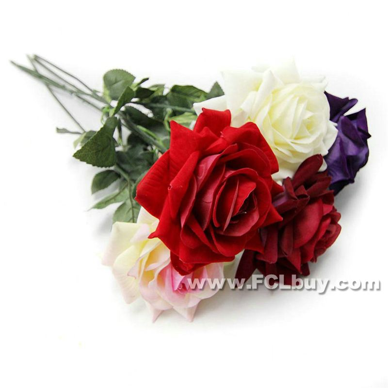 Artificial Flower Single Rose 67Cm(Not Including Vase)