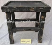 Farm Shabby Wood Square Small Antique Furniture Corner Table