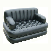 Afric 5 in 1 black sectional inflatable air sofa bed for sale