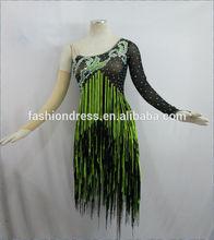 Vente en gros- concours de danse latine salle de bal robe, robe latine du spectacle, latin costume l-0040