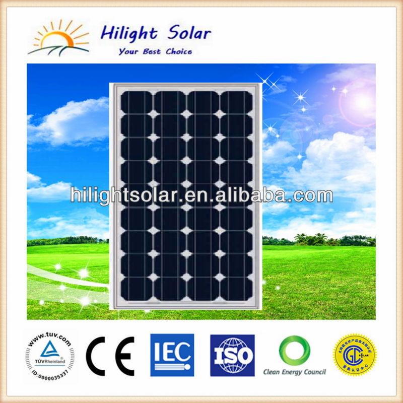 Low price solar panel 100W mono with TUV, IEC, CE, ISO, 100W solar panel prices