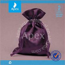 purple drawstring satin balloon gift bag
