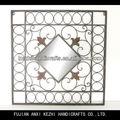 De pared cuadrados única placa de metal
