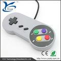 عالية الجودة لعبة فيديو الكلاسيكية تحكم سلكية snes/ للسوبر نينتندو متنوعه لعبة جويستيك usb تحكم snes