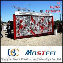 Beautiful steel mobile pvc kiosk