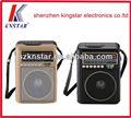 Ns-108u caliente venta radio portátil exterior con usb tarjeta ad tarjeta