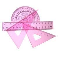 10cm plastic ruler triangle protractor set