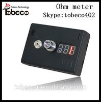 2014 hottest volt meter e-cig ohm meter e-cig ohm reader
