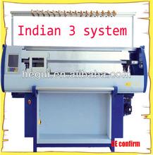 2015 indian three system sweater knitting machine price
