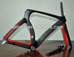 Chinese cheap bike,full carbon time trial TT frameset black matt/red glossy finish Fm018