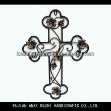 wrought iron decorative catholic cross