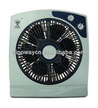 10'' mini grey color square box fan KT25-K3