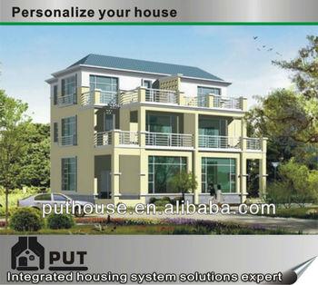 multi-storey prefab light steel villa