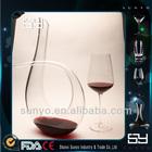Hand Blown Elegant High Clear Crystal Wine Glass Decanter Dinner Set