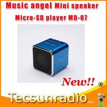 Hot sale Music angel MD-07 mini Speaker MP3 Player mini usb portable speaker micro sd/tf music player