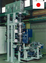 Mitsuba OA roll manufacturing equipment continuouly vulcanize by heater using glass tube