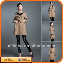 Ladies Grey Outerwear 2013 Fashion Coat Single Women