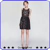 black stitching lace and chiffon cocktail dress