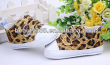 2013 New design baby first walkers leopard shoes Soft Sole Skid Proof Baby Shoes 0-12 Months