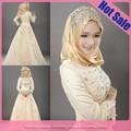 wholesale new dl442 stile di alta qualità hot pink muslim abiti da sposa foto