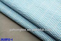100% cotton seersucker checked woven shirt fabric wholesale