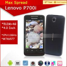 4inch Lenovo P700i MTK6577 1.0GHz dual core 5mp camera 3g wifi dual sim mobile phone