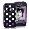 Brand New Polka Dot Robot Hard Protective Case for iPhone 4 4s