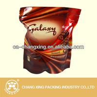 Airtight aluminum foil zipper pouch for chocolate food packaging