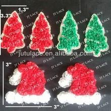 hot!! Christmas tree -chiffon flower -christmas decoration-shabby chiffon trim,shabby flower