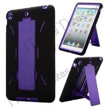 Anti-skid for iPad Mini Silicone Cover Coated Hard Case for iPad Mini Case with Kickstand