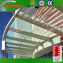 Exterior Door Steel Glass Canopy Awnings