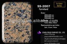 Artificiale a buon mercato quarzo tri- lastra a colori per le mattonelle, vanitytop, da tavolo