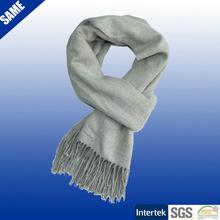 Woven acrylic plain big thick scarf shawl