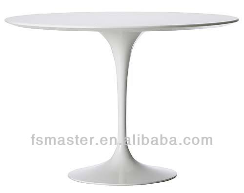 Estilo europeu moderno pfiberglass tulipa rodada/oval mesa de jantar projetada por eero saarinen