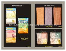 100% cotton baby muslin wraps