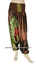 Vintage Silk Sari Harem Trouser Pants Gypsy Boho Indian Pants Yoga Trouser