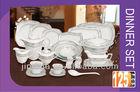 125pcs S shape porcelain ceramic crockery dinner set dinnerware tableware