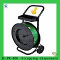 Jc-pk-200 flejes de pet dispensadores, fuente de la fábrica de plástico pet correas dispensador de carro