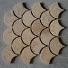 Irregular fish scale mosaic tile