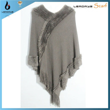 plain acrylic long tassel fringe ladies' cape