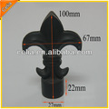 19mm preto pó revestido de alumínio decorativas spears cerca