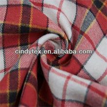 16*16 soft plaid yarn dyed 2 sides brushed 100% cotton fabric