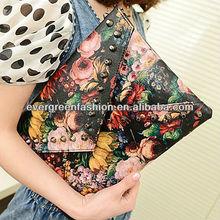 bags handbags women bags wholesale handbags purses famous marks flower print clutch envelop purse A023